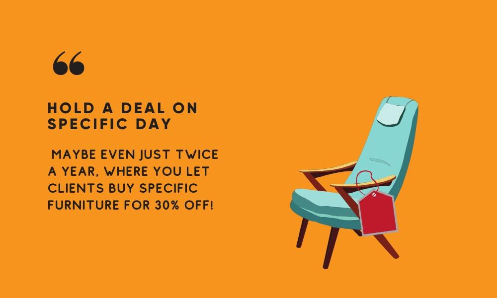deal marketing tips build furniture brand