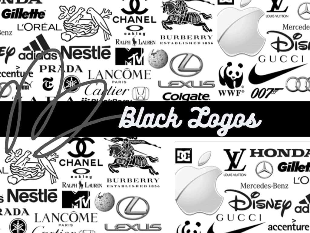 black logos of famous brands