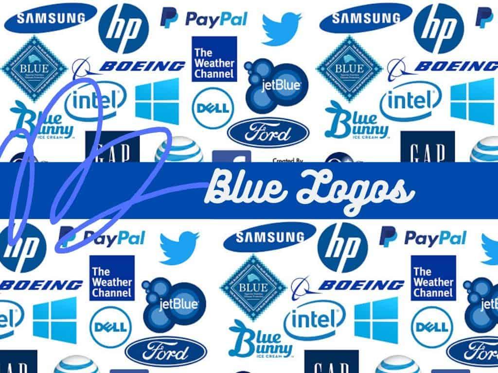 blue Logos of Popular Brands
