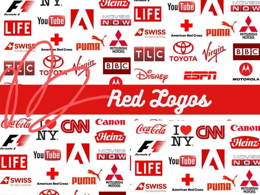 red Logos of Popular Brands
