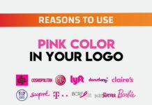 resone to use pink colour in your logo