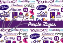 purple logos of famous brands