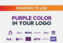 why choose purple color logo