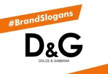 Dolce and Gabbana Brand Slogans