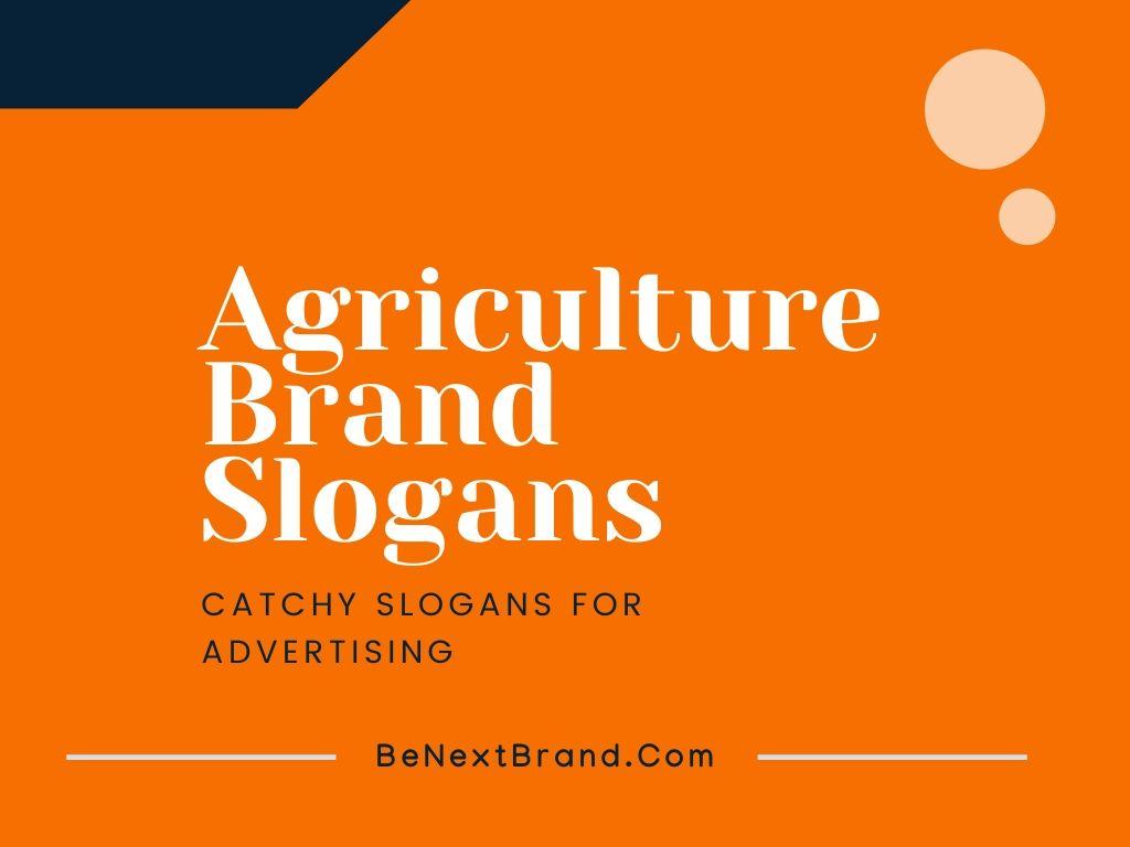 agriculture marketing slogans