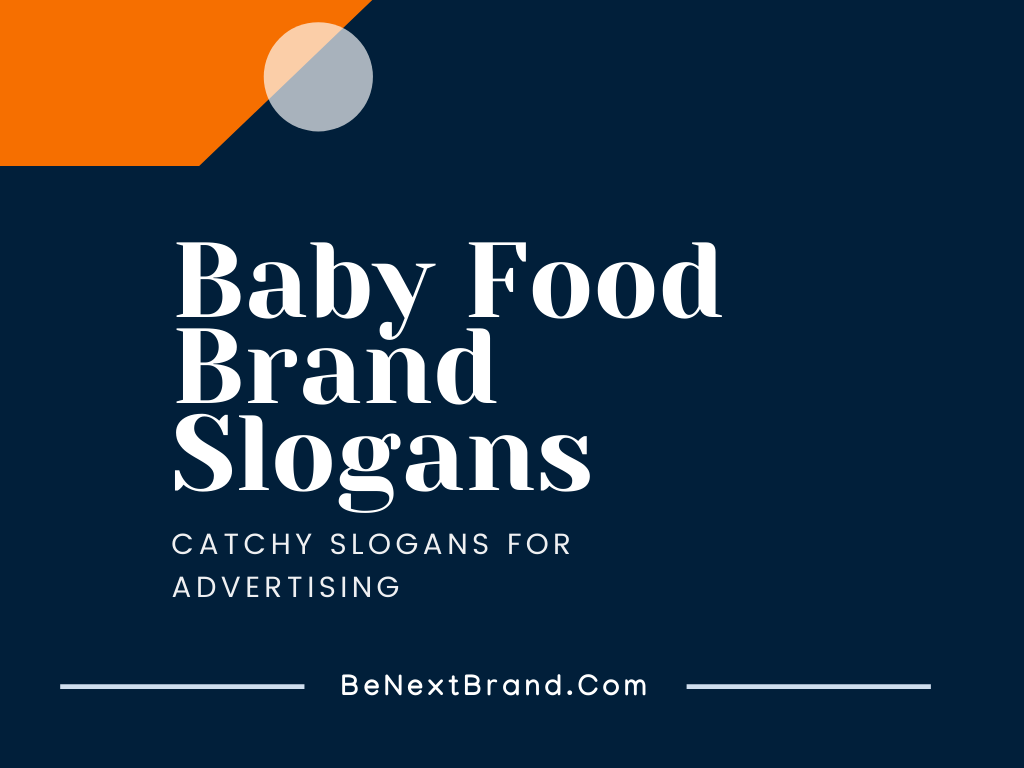 baby food marketing slogans taglines