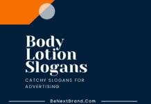Body Lotion Marketing slogans