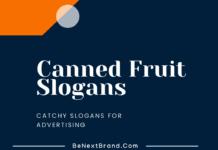 Canned Fruit Marketing Slogans