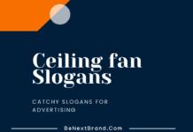 Ceiling fan Marketing Slogans