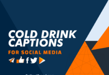 cold drink captions