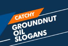 groundnut oil slogans