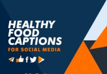 healthy food captions