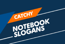 notebook slogans
