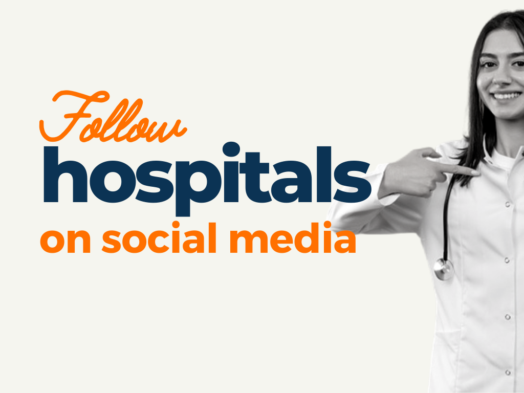 Hospitals to Follow On Social Media