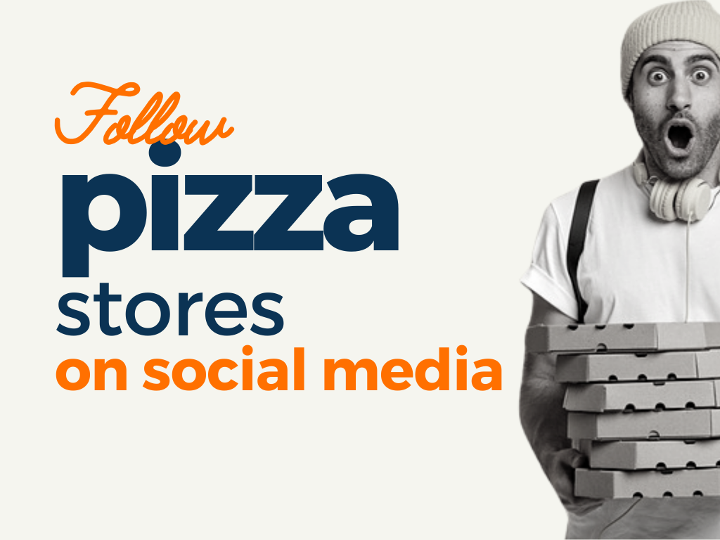 Pizza stores to follow on All Social Media