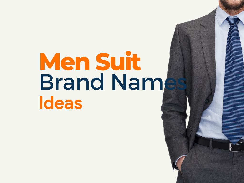 Men Suit Brand Names