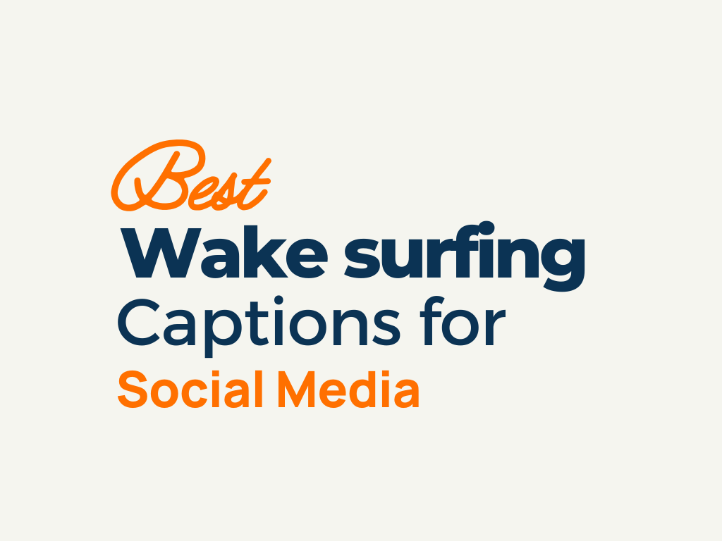 Wake surfing Captions